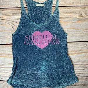 Spiritual Gangster burnout tank logo heart large